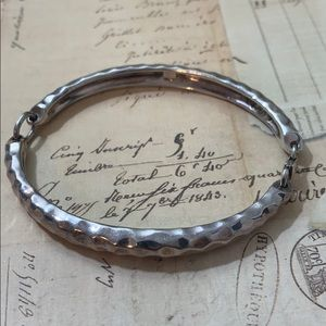 Robert Lee morris Heavy Hammered Sterling Bracelet